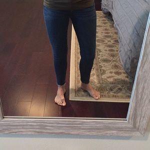 LOFT Skinny Jeans w/ raw hem